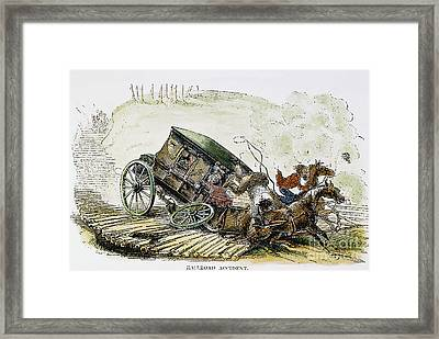 Accident: Corduroy Road Framed Print by Granger