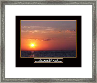 Accomplishment Framed Print by Kevin Brant