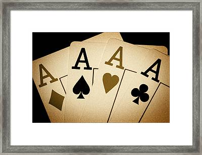 Aces Framed Print by Shane Rees