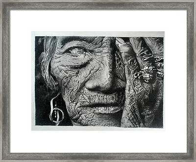 Aching Loneliness Of Life Framed Print by Sohaj Singh Brar