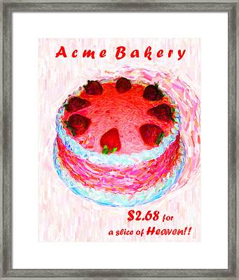 Acme Bakery . 2 Dollars 68 Cents For A Slice Of Heaven Framed Print by Wingsdomain Art and Photography