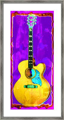 Acoustic Guitar Abstract Framed Print by David G Paul