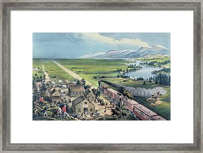 Across The Continent Framed Print by Currier and Ives