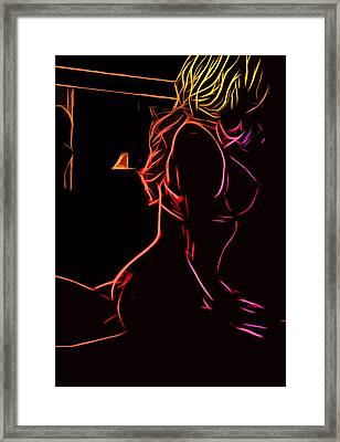 Act In The Bedroom Framed Print by Steve K