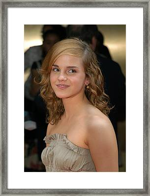 Actress Emma Watson, Who Plays Hermione Framed Print by Everett
