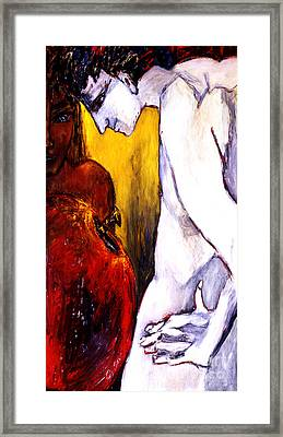 Adam And Eve Framed Print by Eszter Gyory