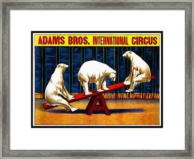Adams Bros. International Circus Framed Print by Bill Cannon
