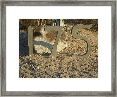 Address Numbers Framed Print by Jane Williams