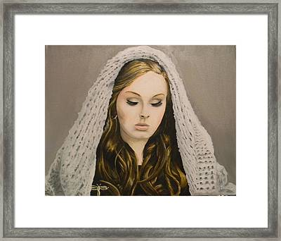 Adele Framed Print by Eric Barich
