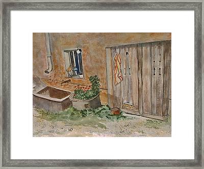 Adeline's Door Framed Print by Heidi Patricio-Nadon