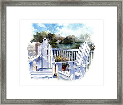 Adirondack Chairs Too Framed Print by Andrew King