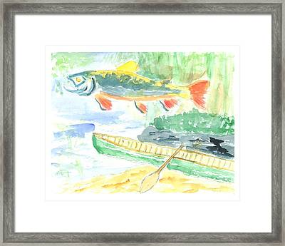 Adirondack Dreaming Framed Print by David Crowell