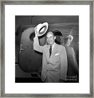 Adlai Stevenson (1900-1965) Framed Print by Granger