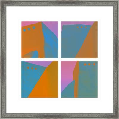 Adobe Walls Four-up Framed Print by Carol Leigh