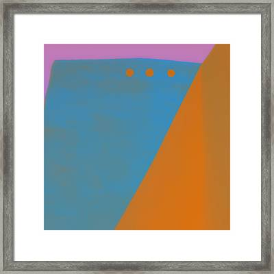 Adobe Walls Number 1 Framed Print by Carol Leigh