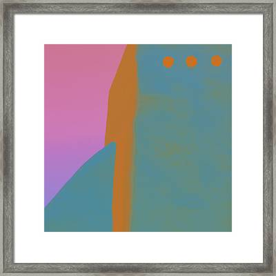 Adobe Walls Number 3 Framed Print by Carol Leigh