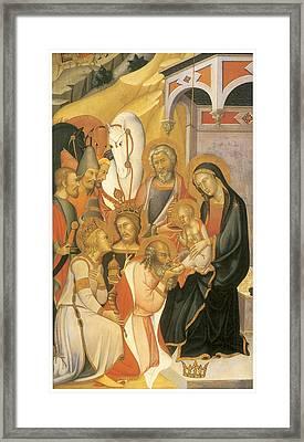 Adoration Of The Magi Framed Print by Bartolo Di Fredi