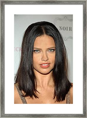 Adriana Lima At In-store Appearance Framed Print by Everett