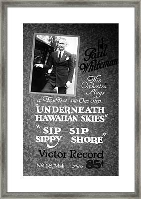 Advertisement For Victor Records, Paul Framed Print by Everett