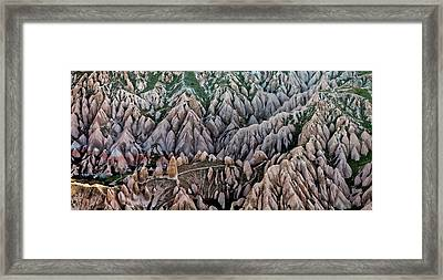 Aerial View Landscape Framed Print by Julio López Saguar