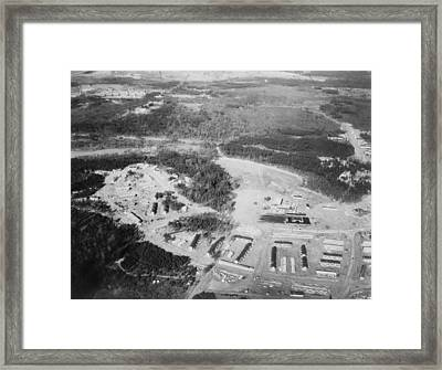 Aerial View Of Greenbelt, Maryland Framed Print by Everett