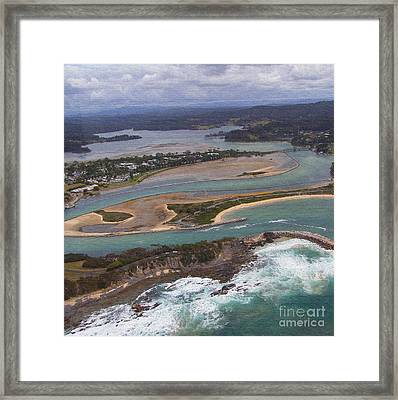 Aerial View Of Narooma Inlet Framed Print by Joanne Kocwin