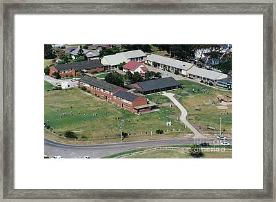 Aerial View Of Narooma Public School Framed Print by Joanne Kocwin
