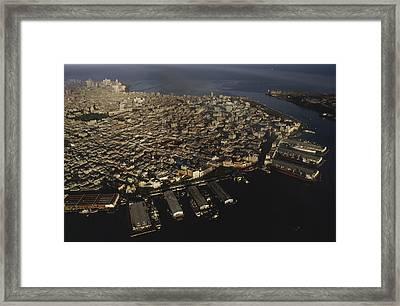 Aerial View Of Old Havana, Havana Framed Print by James L. Stanfield