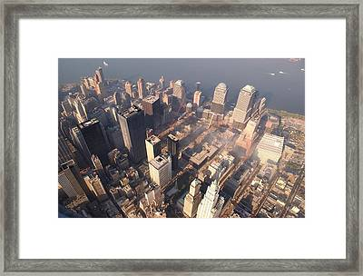 Aerial View Of The Recovery Operation Framed Print by Everett