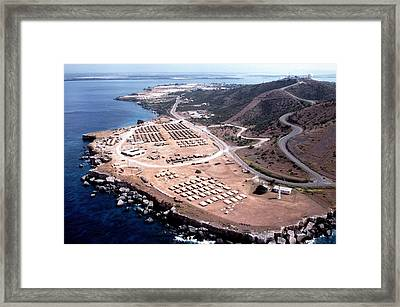 Aerial View Of The U.s. Naval Station Framed Print by Everett