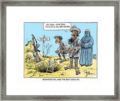 Afghani And Son Framed Print by David Lloyd Glover