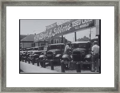 African American Attendant Cleans Hood Of Ford Framed Print by Archive Holdings Inc.