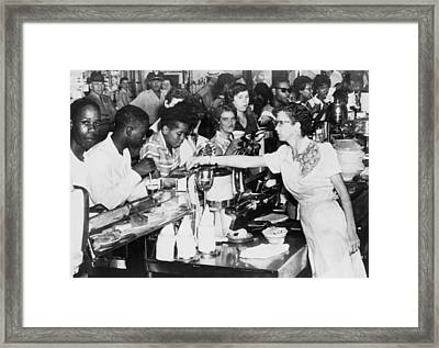 African American Being Served At Kress Framed Print by Everett