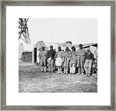 African-american Contrabands Dressed Framed Print by Everett