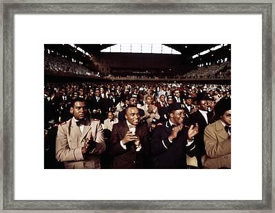 African American Men Applaud Black Framed Print by Everett
