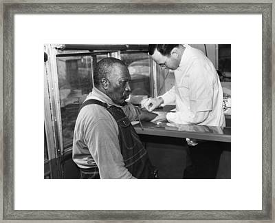 African American Patient Receiving Framed Print by Everett