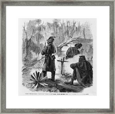 African American Pickets Of The First Framed Print by Everett