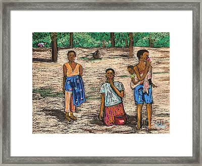 African Children Framed Print by Reb Frost