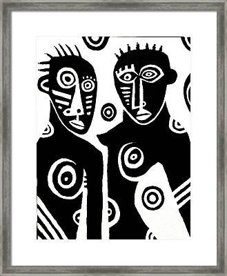 African Couple Framed Print by Robert Daniels