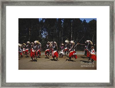 African Intore Dancers Framed Print by Elizabeth Kingsley
