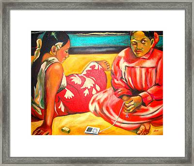 After Master Gaugin-my Own Homage Framed Print by Susi Franco