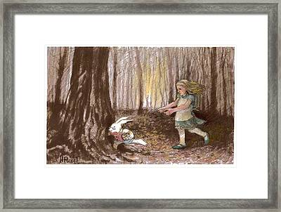 After The Bunny Framed Print by Herb Russel