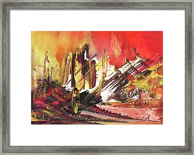 After The Earthquake Framed Print by Miki De Goodaboom