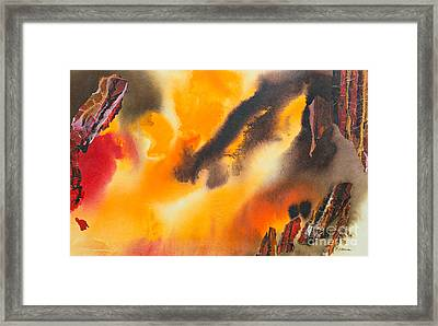 After The Fire Framed Print by Phil Albone