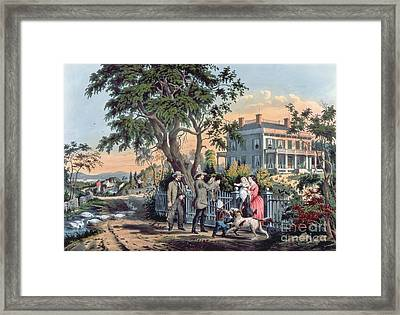 After The Hunt Framed Print by Currier and Ives
