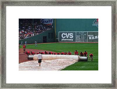 After The Rain Delay Framed Print by Mike Martin