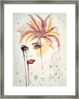 After The Show Watercolor On Paper Framed Print by Georgeta  Blanaru