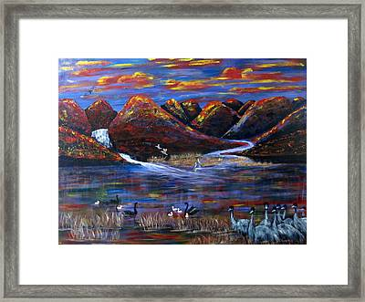 After The Wet Framed Print by Susan McLean Gray