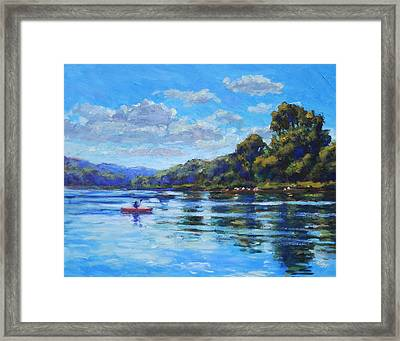 Afternoon At Leo's Landing Framed Print by Michael Camp