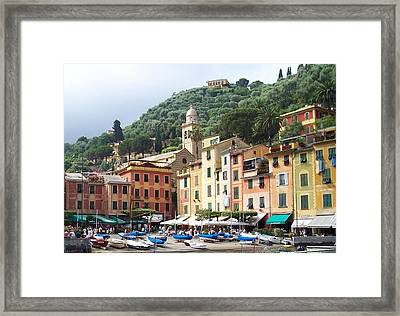 Afternoon In Portofino Framed Print by Marilyn Dunlap
